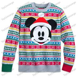 Disney Store Christmas 2018 - Sweater For Men - Mickey Mouse- Holiday - Nwt