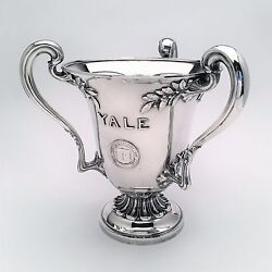 1911 Yale University Art Nouveau Sterling Silver Trophy Cup By Dominick And Haff