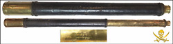 Telescope Engraved 1800 Three Drawer Brass Pirate Gold Coins Shipwreck Treasur