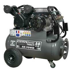 Sealey Compressor 50ltr Belt Drive 3hp with Front Control Panel - SAC3503B