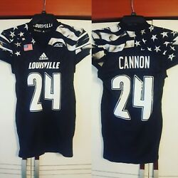 Cannon 2016 Louisville Cardinals Young Patriot Military Appreciation Game Jersey