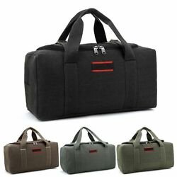 Military Canvas Duffle Gym Bag Sports Travel Luggage Handbag Tote Shoulder Bag $19.98
