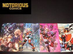Harley Quinn And The Birds Of Prey 1-4 Variant Set Complete Comic Black Label Dc