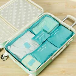 Travel Bags 6pcs Set Cosmetic Personal Cases Box Shaped Multi Functional Storage