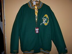 Mitchell And Ness Packers 60's Throwback Reversible Wool Jacket 5xl Retails 450