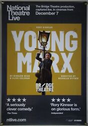Young Marx Rolled Orig 1sh Movie Poster Rory Kinnear National Theatre Live 2017