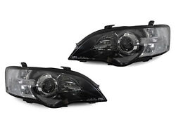 Depo Jdm Black/clear Projector Headlights For 2005-2007 Subaru Legacy / Outback