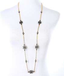 NEW Urban Anthropologie Mellina Infinity Loop Rhinestone Silver Gold Necklace $15.79