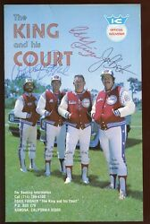 1978 The King And His Court Program Autographed By Four Eddie Feigner Hologram