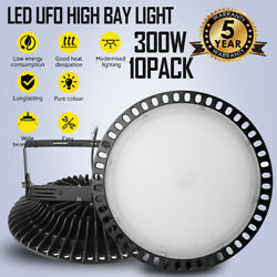 10x300W UFO LED High Bay Light Warehouse Industrial Factory Shed Commercial Lamp