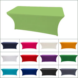 4 Size Spandex Stretch Tablecloth Folding Table Cover Rectangular Christmas Xmas