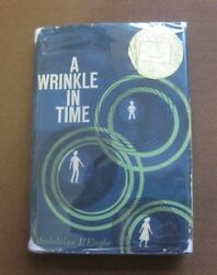 SIGNED - A WRINKLE IN TIME by Madeleine L'Engle - 1st later HCDJ 1962 Newbery