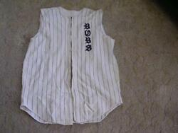 1950and039s-60and039s Spanjian Sleeveless Zippered Baseball Jersey Team Bubs 12 Size 42