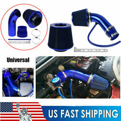 Air Flow Intake Kit Blue Pipe Diameter 3and039and039+cold Air Intake Filterandclampaccessory