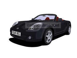Toyota Mr2 Roadster Car Art Print Picture Size A4. Personalise It