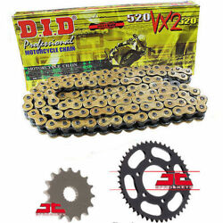 Fits Ducati 750 Monster I.e. 2002 Did Gold Vx2 Heavy Duty X-ring Chain And Sprocke