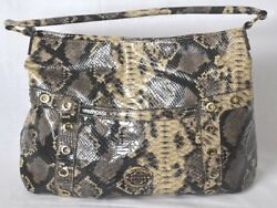 New Designer DANA BUCHMAN Large Faux Snake Skin HOBO Shoulder Bag