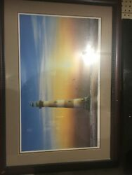 """Jim Booth Print 'first Light"""" Matted And Framed. classic Edition 1999. Signed"""