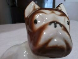 Vtg. Old English Bulldog Figurine Porcelain Ceramic Statue 5in.tall Japan