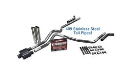 Chevy Gmc 1500 15-18 2.5 Ss Dual Exhaust Kit Flowmaster Super 10 Corner Clamp