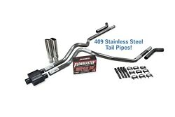 Ford F-150 87-97 2.5 Ss Dual Exhaust Kit Flowmaster Super 10 Corner Clamp