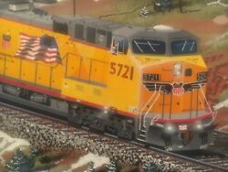 Original Robert West Oil Painting Union Pacific Railroad Train Engine Art