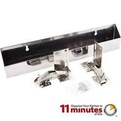 Stainless Steel 14-3/4 Inch Wide Sink Tip Out Tray Pack Set Of 2