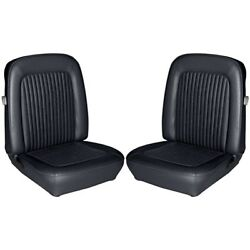 1968 Ford Mustang Convertible Standard Black Front And Rear Seat Covers 68320 New