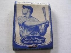1930and039s Joe Dimaggioand039s Grotto Autographed By Vince And Joe Dimaggio Matchbook