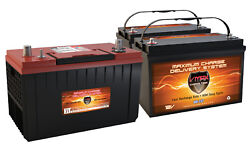 XCA31 & 2 MR137 AGM HI MCA FOR MARINE GAS ENGINES & 120AH DEEP CYCLE AUX Battery