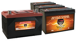 XCA27 & 3 MR127 AGM 1K MCA FOR MARINE GAS ENGINE & 100AH DEEP CYCLE AUX Battery