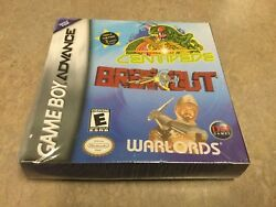 Centipede /break Out /warlords . Arcade Triple Pack Advance Game Factory Sealed