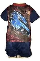Hot Wheels Boys Blue And Red 2 Piece Pajama Set Size 3T