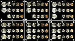 Gorgeous Collection Of 6 Different Gem 1947 To 1953 Pdands U.s. Silver Mint Sets