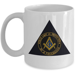Masonic Family Wife Gift Coffee Mug Pha - This Lady Is Protected By A Freemason