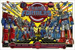 Transformers By Jesse Philips - Rare Signed Ap Sold Out Mondo Print