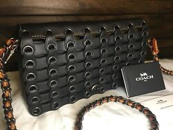 Coach 1941 Collection Dinky Linked Leather Crossbody Clutch In Black 59126 BNWT