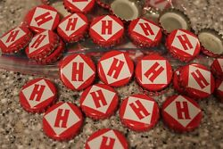 100 Harpoon Brewery H Beer Bottle Caps Red White No Dents Free Fast Shipping