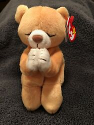 Ty Beanie Baby Hope Praying Bear W/tag Errors. Rare Excellent Condition