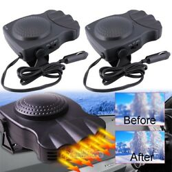2x 3Port 2in1 Car Auto Portable Heater Heating Cooling Fan Defroster Demister US