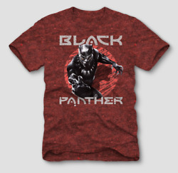Men's Marvel Black Panther Graphic T-Shirt Red NWT SIZE XL R-228