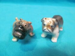 PAIR OF VINTAGE CERAMIC BULLDOG FIGURINES