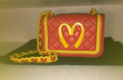 MOSCHINO Jeremy Scott's Legendary McDonald's Bag!Deliciously Well-Made!BRAND NEW