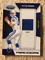 2010 Certified Fabric Of The Game 111 Peyton Manning Jsy 28/50