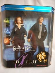 1998 Barbie Collector Edition The X Files Barbie And Ken Agent Scully Mulder Nrfb