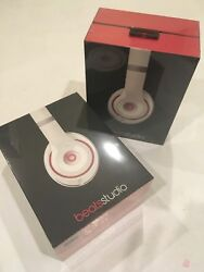 New Genuine Beats By Dr. Dre Studio 2.0 Wired Headband Over-ear Headphone White