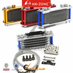 Universal Motorcycle Engine Oil Cooler Radiator Cnc Plate Cooling 110cc-200cc