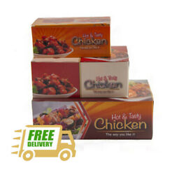 Fried Chicken Takeaway Boxes Cardboard - 3 Sizes Fast Food Catering Rectangle
