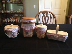 Longaberger Horizon Of Hope Baskets, Special Set From 2004 Bee, Reduced Price