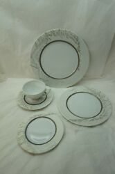 Haviland Limoges China Couture Pattern Lesage 5 Pc Placesetting Dinner Plate